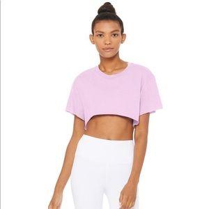 NWT Alo Yoga Cropped Short Sleeve